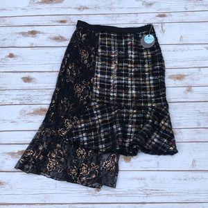 Eva Franco Metallic Tweed Skirt Size 8
